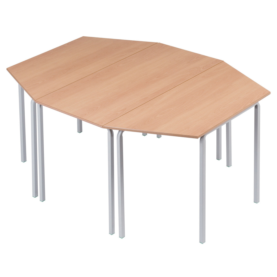 Buy trapezoid crush bent tables tts for Trapazoid table