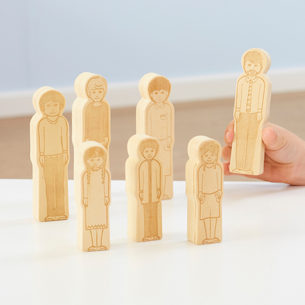 Small World Toddler Wooden Doll Family 7pk  large