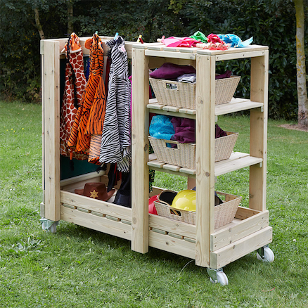 Wooden Outdoor Role Play Dress Up Unit  large
