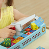 Wooden Block Number and Letter Construction Boat  small