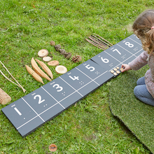 Outdoor Number Chalkboard Tracks 1-20  medium