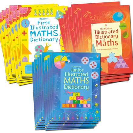 School Maths Dictionary Pack 30pk  large