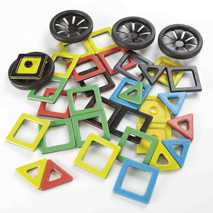 Magnetic Construction Polydron Wheels Set  large