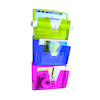Multicoloured Wall Mounted Documents File 3pk  small