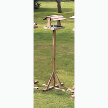 Bird Table with Thatched Roof  medium