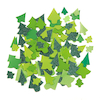 Festive Tree Paper Collage Shapes Assorted 300pk  small
