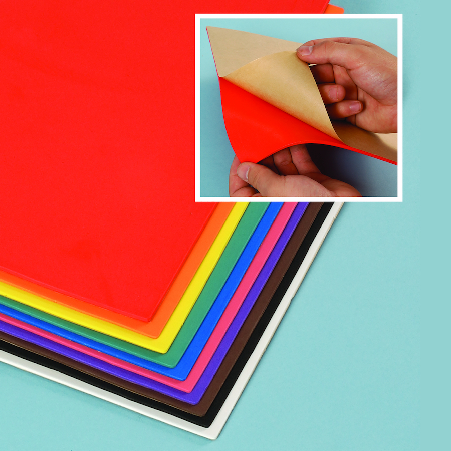 buy self adhesive craft foam sheets 200 x 300mm 10pk tts