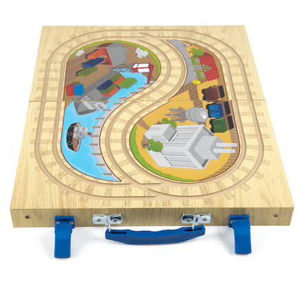 Small World Pack Away Train Track Case  large