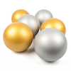 Gold and Silver Coated Foam Balls 6pk  small