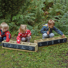 Wooden Outdoor Chalkboard Troughs   medium