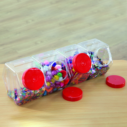Hexagonal Storage Jars 4pk  large