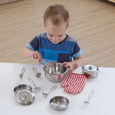 Role Play Stainless Steel Kitchenware Set  large