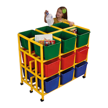 Rainbow 18 Cubby Mobile Storage Unit  medium