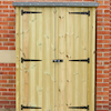Outdoor Wooden Lockable Storage Cupboard  small