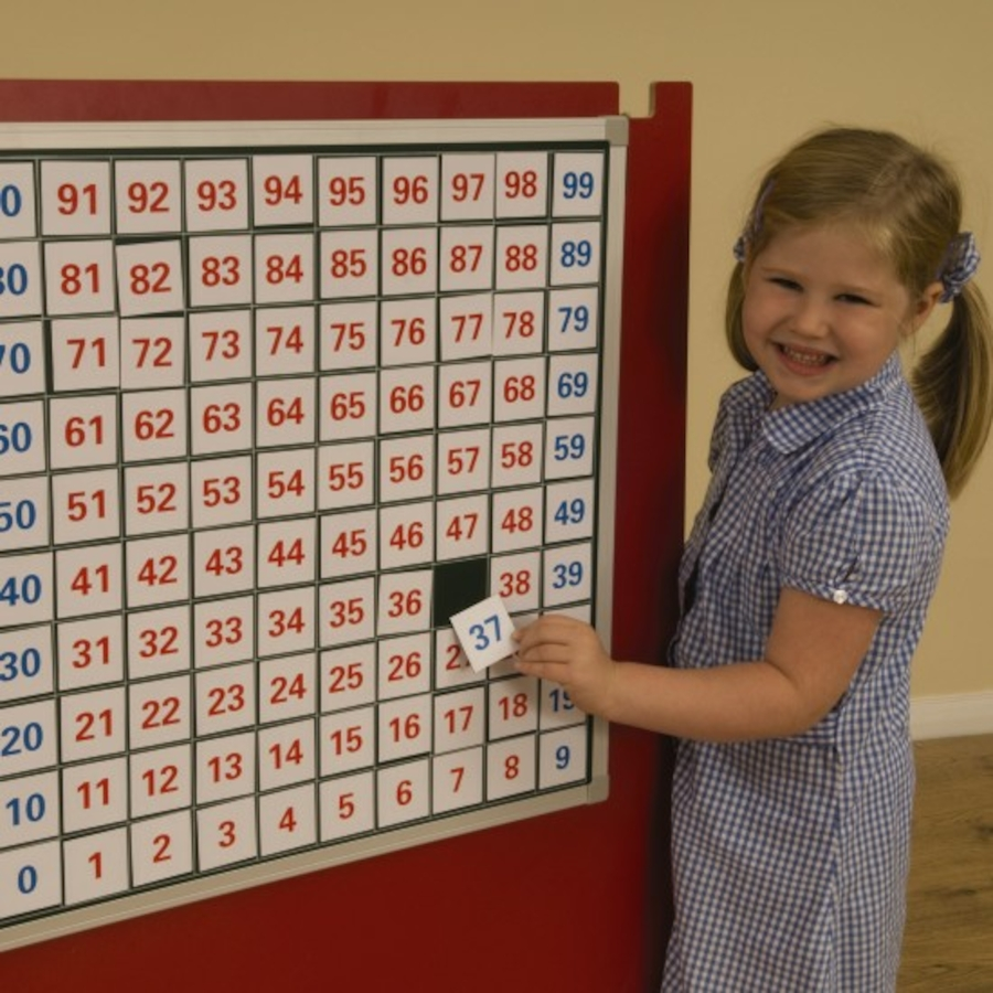 Buy Magnetic Hundred Square Board And Numbers Tts