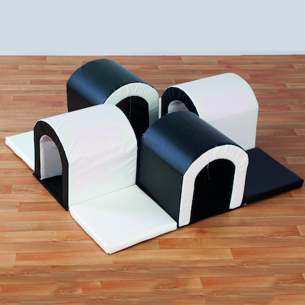 Black and White Soft Play Tunnel Maze  large