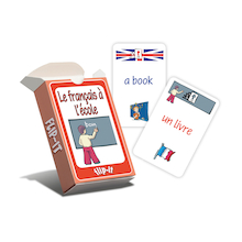Flip-It In The School French Cards  medium