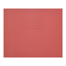 6.25 x 8'' Exercise Books Red 24 page 100pk   medium