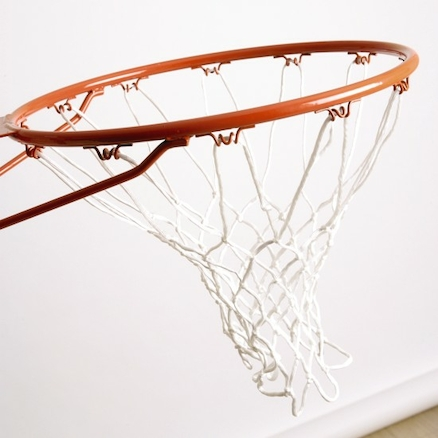 Wall Mounted Basketball Ring and Net  large