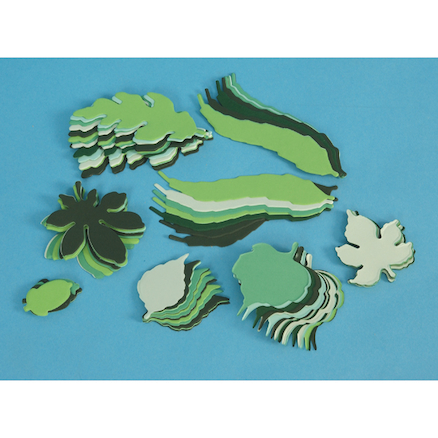 Small Spring/Summer Paper Leaves Assorted 250pk  large