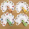 Animal and Insects Petal Fans 4pk  small