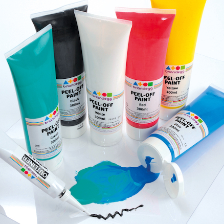 Assorted Colours Peel Off Paint Set 300ml 6pk  large