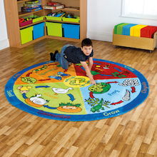 Lifecycles Circular Rug 200cm  medium