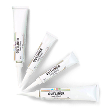 Lead Effect Glass Painting Outliners 45ml 4pk  medium