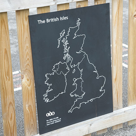 British Isles Outdoor Chalkboard  large