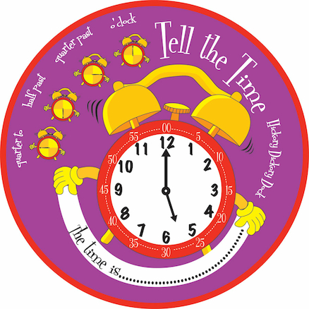 Tell the Time Giant Clockface 75cm  large