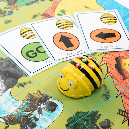 Bee-Bot® and Blue-Bot Transparent Grid Mat  large