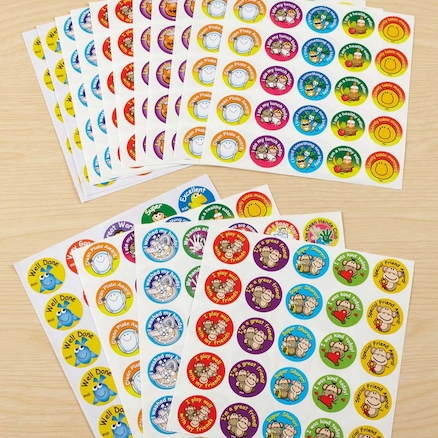 Animal and Smile Praise Stickers 375pk  large