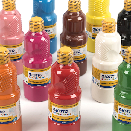 Giotto Assorted School Paint 500ml 12pk  large
