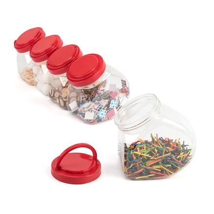Easy Access Collage Storage Tubs 10pk  large