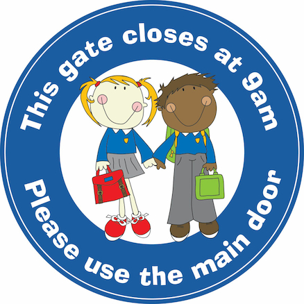 Gates Closing Times Sign 45cm  large