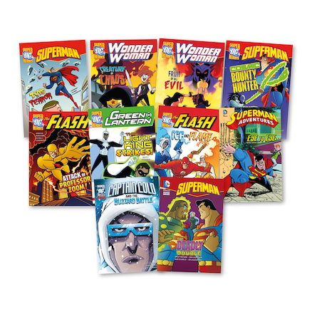 UKS2 Villians and Superheroes Books 10pk  large