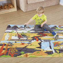 Small World Dinosaur Themed Play Mat  medium