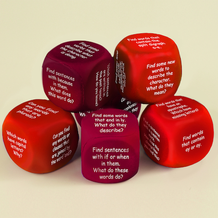 Grammar Through Guided Reading Dice  large