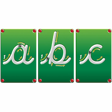 Wooden Blocks Magnetic Cursive Letters  medium