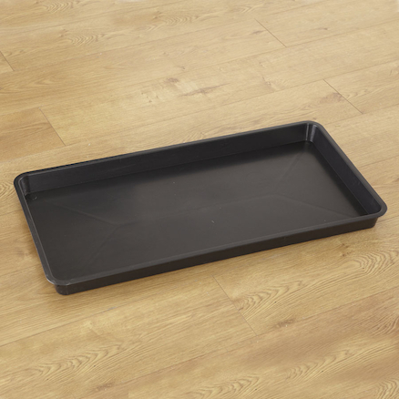 Rectangular Plastic Black Tray  large