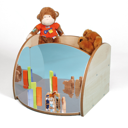 Toddler Mirrored Unit With Trays  large