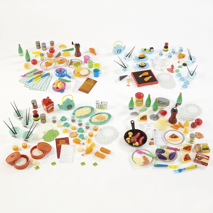 Role Play Plastic Multicultural Food Sets  large