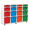 White Tray Storage Unit With 16 Variety Trays  small