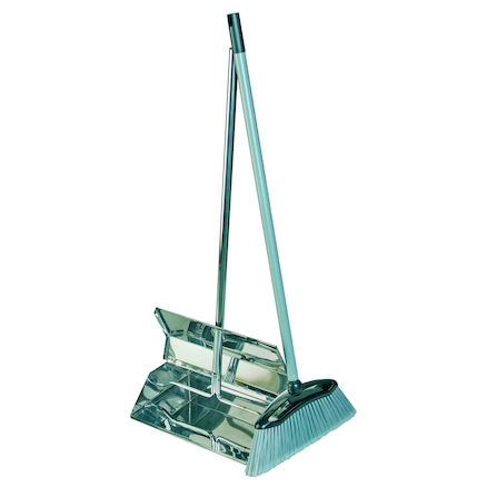 Stainless Steel Lobby Dustpan and Brush Set  large