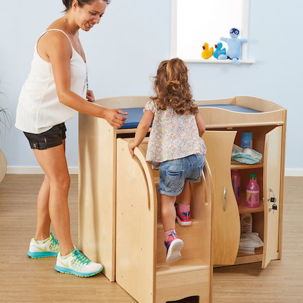 Walk Up Baby Changing Table with Steps  large