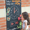 Telling the Time Chalkboard W66 x H95cm  small