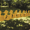 Outdoor Plastic Number Ducks 1-10  small