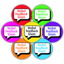 Verbal Feedback Given Stickers 125pk  medium