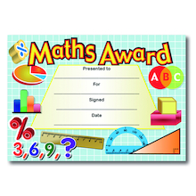 Maths Award Certificates 40pk  medium