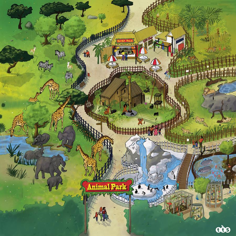 Buy Active World Tuff Tray Safari Park Mat Tts
